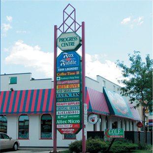 Monument sign, pylon sign, led sign, stone bottom pylon, plaza sign, multi unit sign, commercial sign